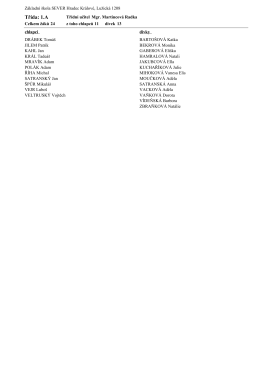 Seznamy žáků v jednotlivých třídách k 1. 9. 2015