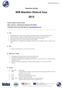 Propozice MTB Stolovehory 2015