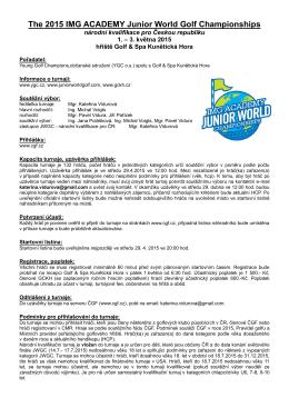 The 2015 IMG ACADEMY Junior World Golf Championships národní