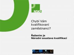 Prezentace NSK pro zaměstnavatele