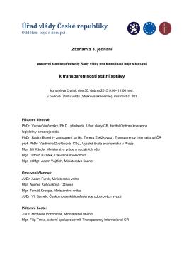 Záznam z 3. jednání pracovní komise k TSS_2015.04.30