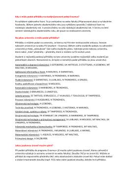Kdy si můžu podat přihlášku na studijní/pracovní pobyt Erasmus? Po