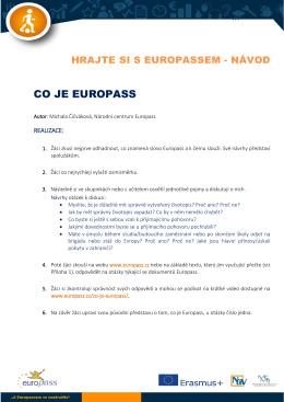 Co je Europass-návod pro učitele