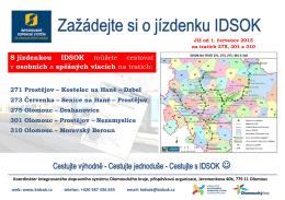 S jízdenkou IDSOK můžete cestovat v osobních a spěšných vlacích