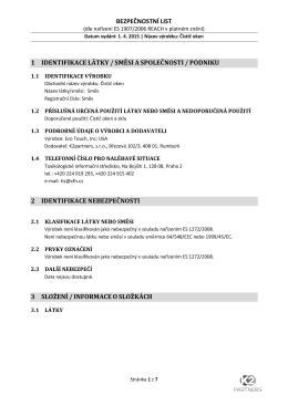 bezpečnostní list 1 identifikacelátky/směsiaspolečnosti