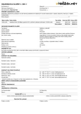 Objednávky - Výběžek.NET