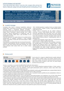 Fond Investičních Příležitostí 7/2020