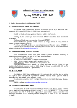 Zprávy STSST č. 3/2015-16 - Středočeský svaz stolního tenisu