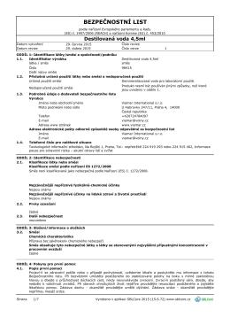 BL 98415 bezpečnostní list CLP