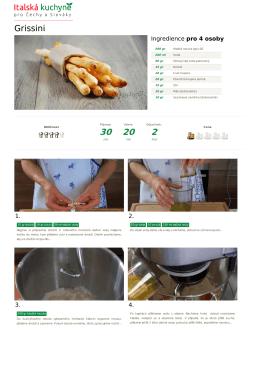 Grissini - Italská kuchyně - Úvod