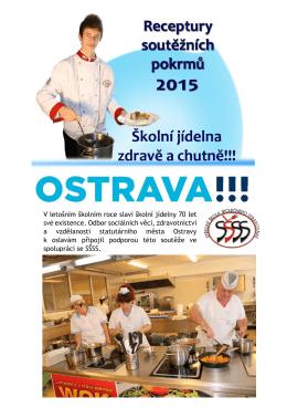 Kuchařka pokrmů soutěže - střední škola společného stravování