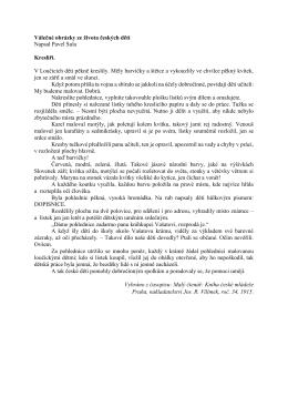 Válečné obrázky ze života českých dětí Napsal Pavel Sula Kreslíři. V