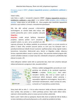 Projekt primární logopedické prevence 2015