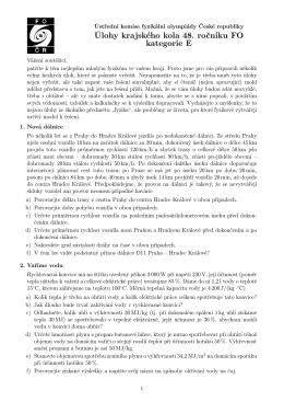 zadání  - Krajská komise fyzikální olympiády v Olomouci