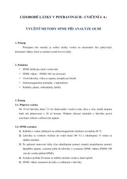 Využití metody SPME při analýze OCHI