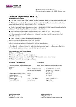 Radiové odpalovače YN-622C