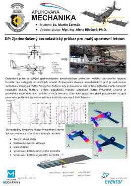 DP: Zjednodušený aeroelastický průkaz pro malý sportovní letoun