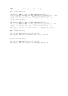 HTML kód pro umístění do webových stránek: Malý banner 500x100
