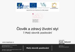Malý slovník posilování - Střední škola grafická Brno