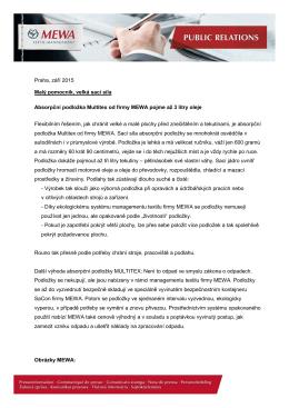 Praha, září 2015 Malý pomocník, velká sací síla Absorpční podložka