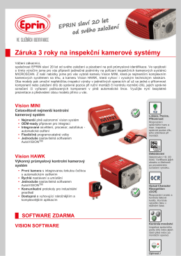 Záruka 3 roky na inspekční kamerové systémy
