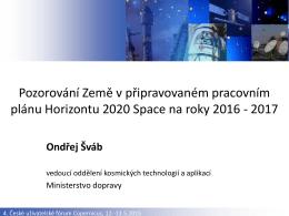 Pozorování Země v připravovaném pracovním plánu Horizontu 2020