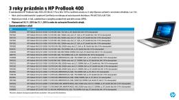 3 roky prázdnin s HP ProBook 400