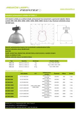 Indukční průmyslové svítidlo ILF 0361-2 www.ekosvetla.cz