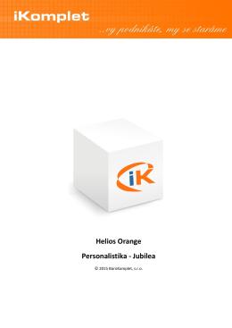 Helios Orange Personalistika - Jubilea