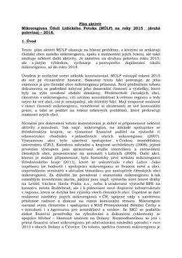 Plán aktivit 2015-2018 - Mikroregion údolí Lidického potoka