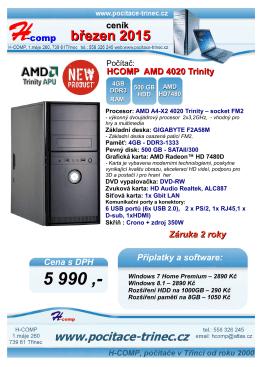 ceník počítačů ke stažení  – březen 2015