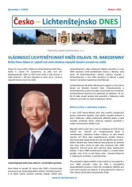 vládnoucí lichtenštejnský kníže oslavil 70. narozeniny