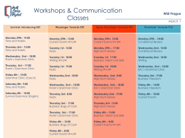 Workshops & Communication Classes