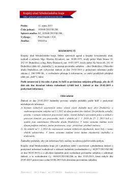Praha: 12. srpna 2015 Číslo jednací: 103848/2015/KUSK Spisová