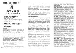 Plakát - Spolek sv.Bartoloměje ve Smolnici
