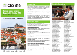 CESB16 - Central Europe towards Sustainable Building Conference