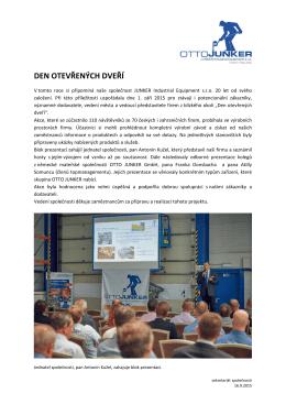 Celá zpráva  - JUNKER Industrial Equipment sro