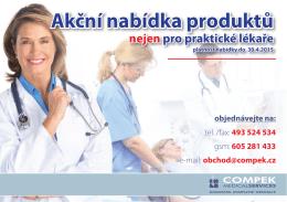 Akční nabídka produktů nejen pro praktické lékaře