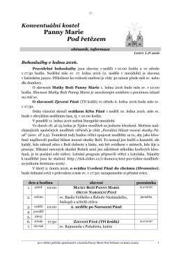 Leden 2016 - Řád maltézských rytířů