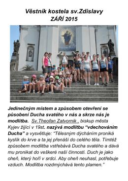 Věstník kostela sv.Zdislavy září 2015
