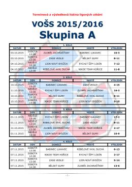 Sezóna 2015/2016 - Ligová soutěž družstev VOŠS