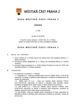 Usneseni rady č. 340
