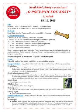 propozice pdf - Škola psích sportů