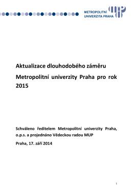 Dlouhodobý záměr (aktualizace r. 2015)