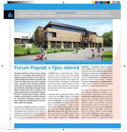 Forum Poprad v říjnu otevírá