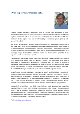 Prof. Ing. Jaroslav Doležel, DrSc.