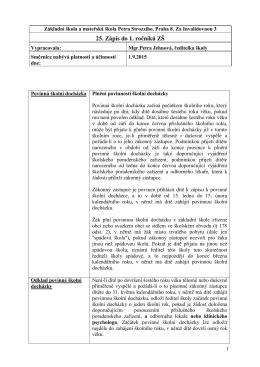 Směrnice ředitele školy k zápisu do základní školy