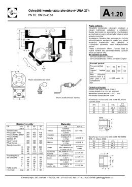 Odvaděč kondenzátu plovákový UNA 27h - G