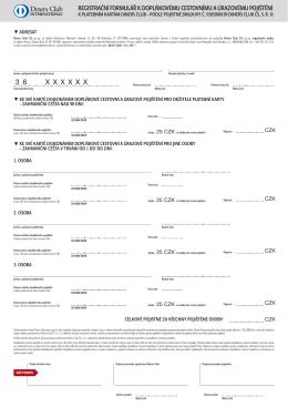 doplňkové cestovní a úrazové pojištění