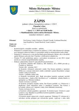 Zápis z jednání Finančního výboru 03/2015 - 3.3